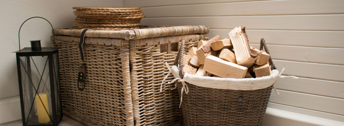 Kaminofen mit Holz