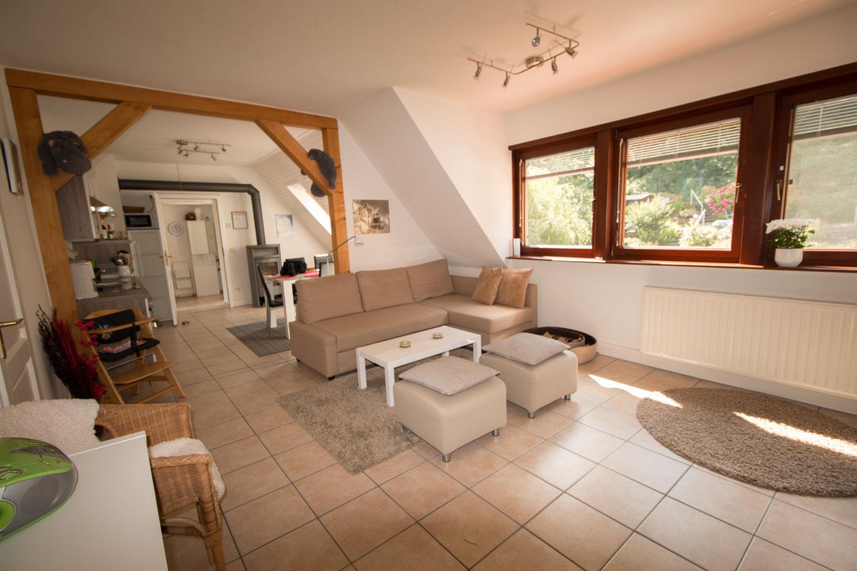 Offenes Wohnzimmer offenes wohnzimmer mit schlafcouch 0269 la maisonette in pirna